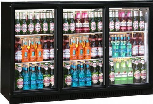 Blizzard BAR3SL Triple Sliding Door Bar Bottle Cooler (293 BTL)